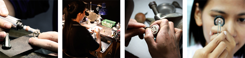 Jewelry production at the manufactory